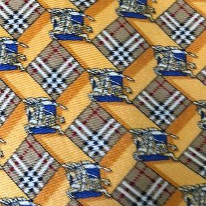 Burberry necktie beautiful 100% Silk Tie